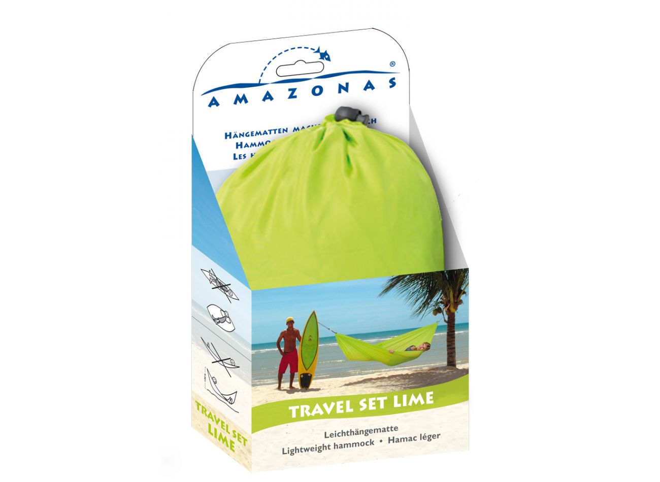 Reishangmat 1 Persoons Travelset Lime