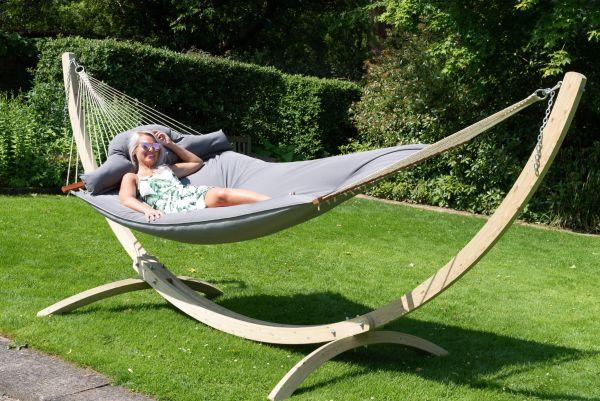 Hangmat met Staander Familie Wood & Big Fat Grey