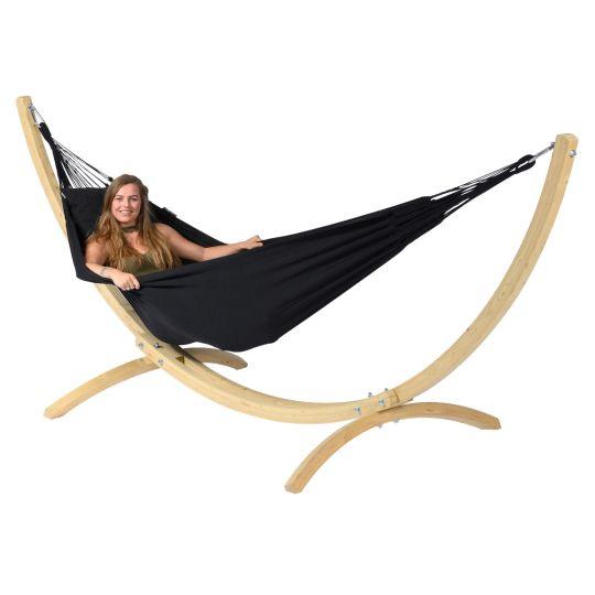 Hangmat met Staander 1 Persoons Wood & Classic Black
