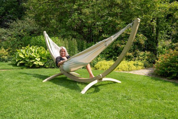 Hangmat met Staander 2 Persoons Wood & Comfort White