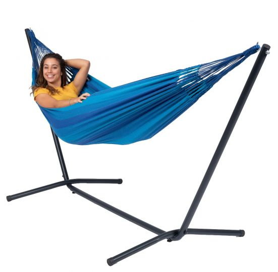 Hangmat met Staander 1 Persoons Easy & Dream Blue