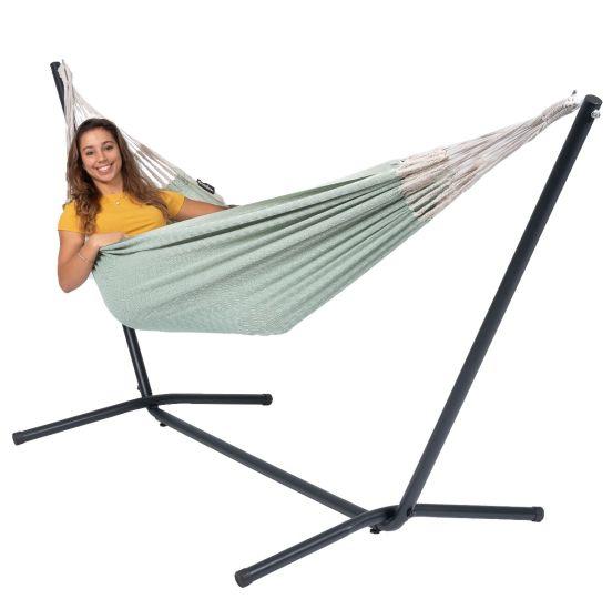 Hangmat met Staander 1 Persoons Easy & Natural Green