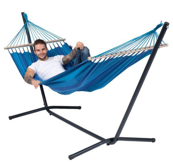 Hangmat met Staander 1 Persoons Easy & Relax Blue