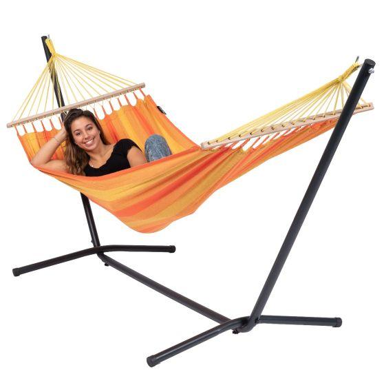 Hangmat met Staander 1 Persoons Easy & Relax Orange