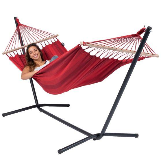 Hangmat met Staander 1 Persoons Easy & Relax Red