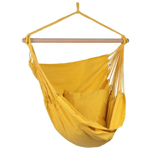 Hangstoel 1 Persoons Organic Yellow