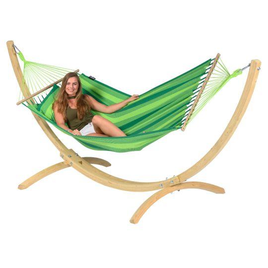 Hangmat met Staander 1 Persoons Wood & Relax Green