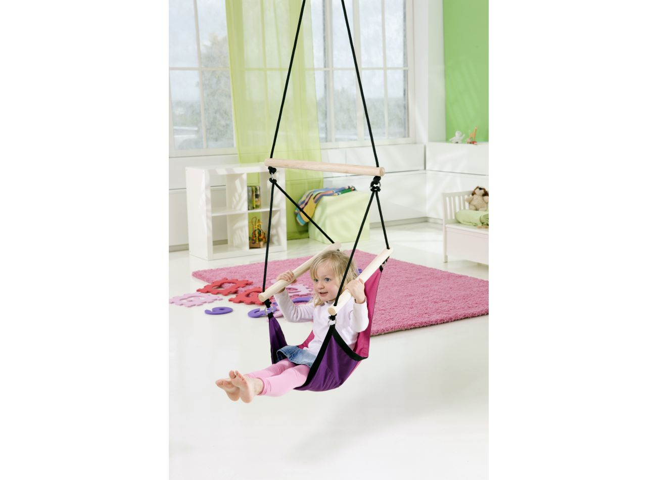 Kinderhangstoel Swinger Pink