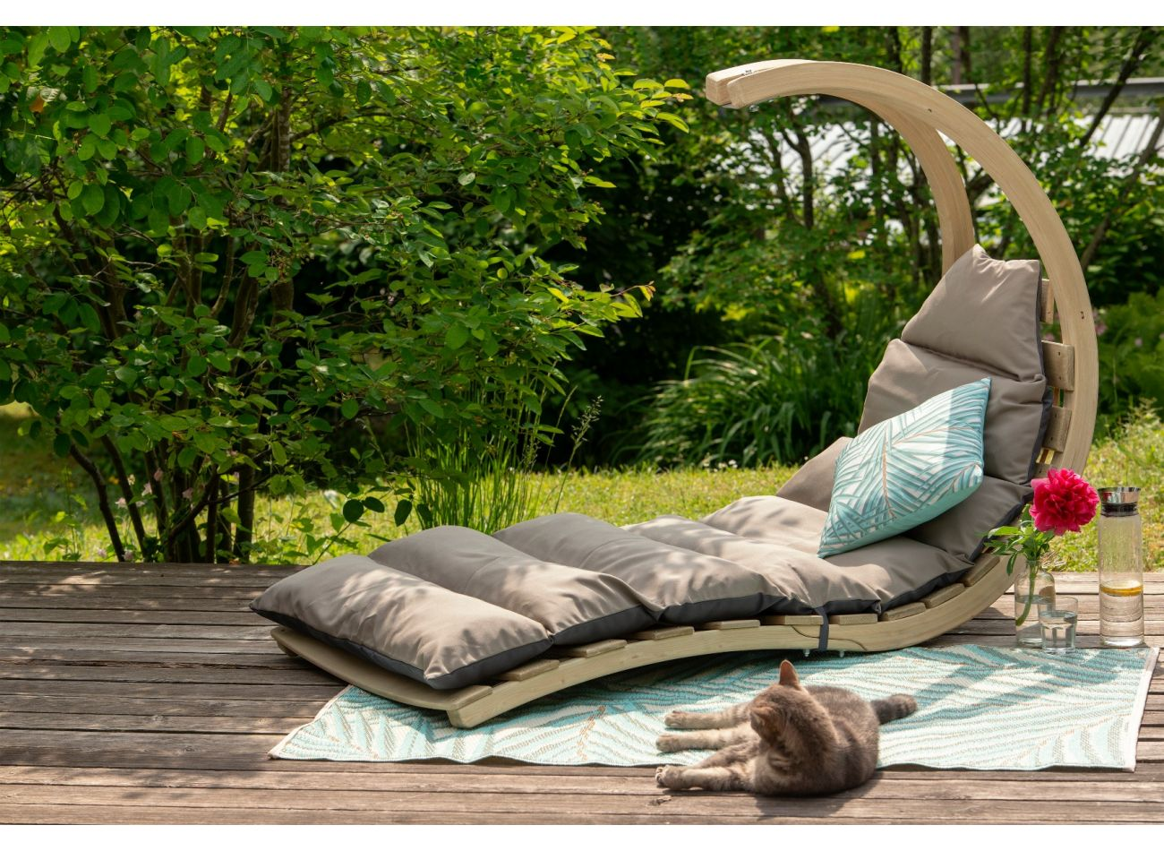 Hangstoel 1 Persoons Swing Lounger Anthracite