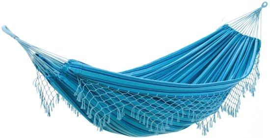 Blauwe hangmat