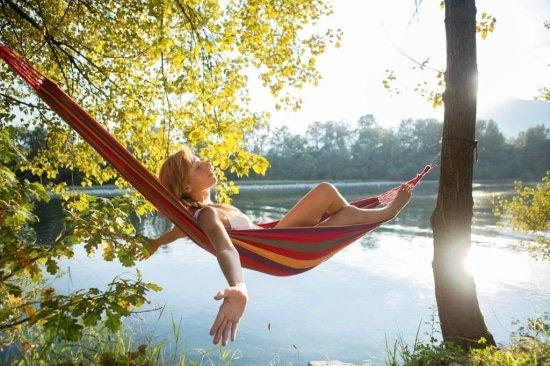 Een hangmat geeft inspiratie en leert je in het nu te leven