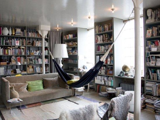 Hangmat naar binnen