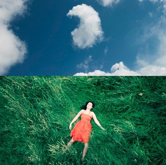 Naar de wolken staren