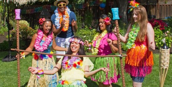 Tropical beach party zomerfeest